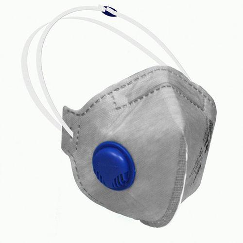 Máscara Respirador Semifacial Descartável PFF2-S CA com válvula Equivalente N95